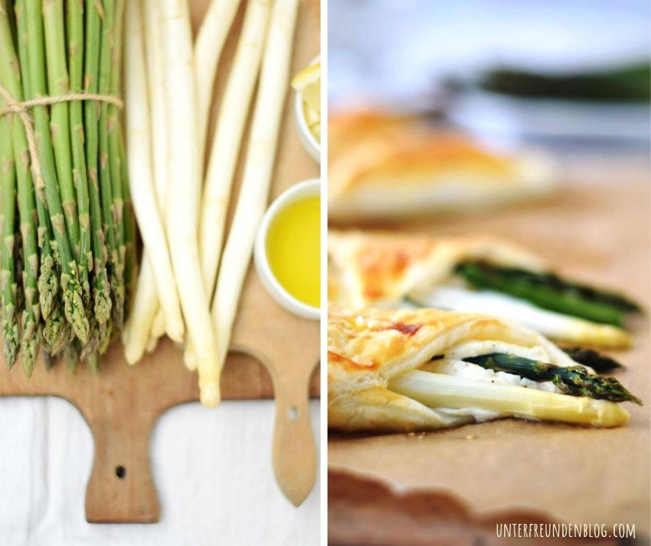 Blätterteigtaschen frisch aus dem Ofen, gefüllt mit Spargel und Ricottacreme – so einfach und lecker. Oh Du schöneSpargelzeit!