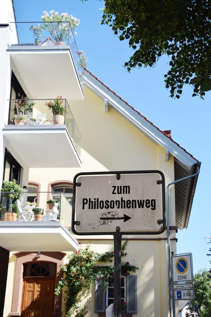 Heidelberg Philosophenweg Schild