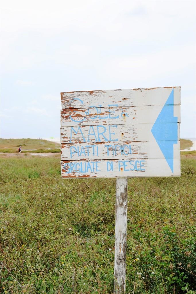 Schild Sardinien Strand