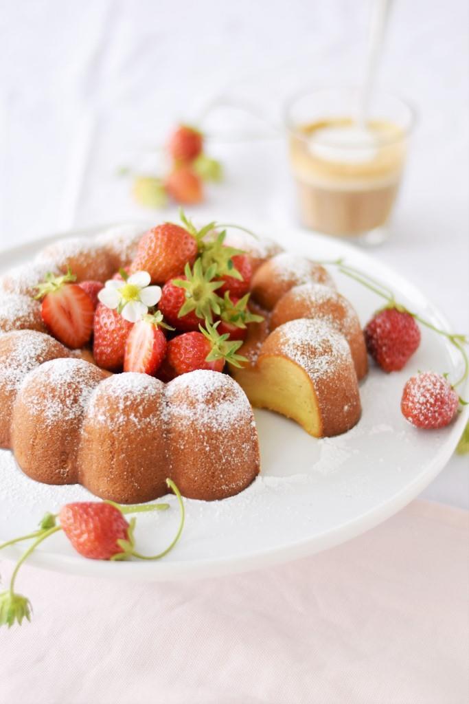 Marzipan Kuchen Erdbeeren