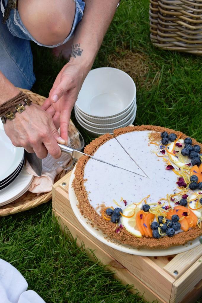 Cheesecake Anschnitt Picknick