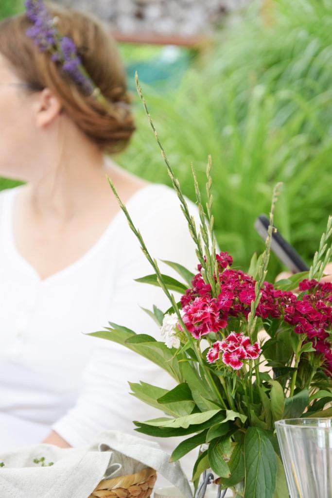 Picknick Blumenmädchen Flowergirl