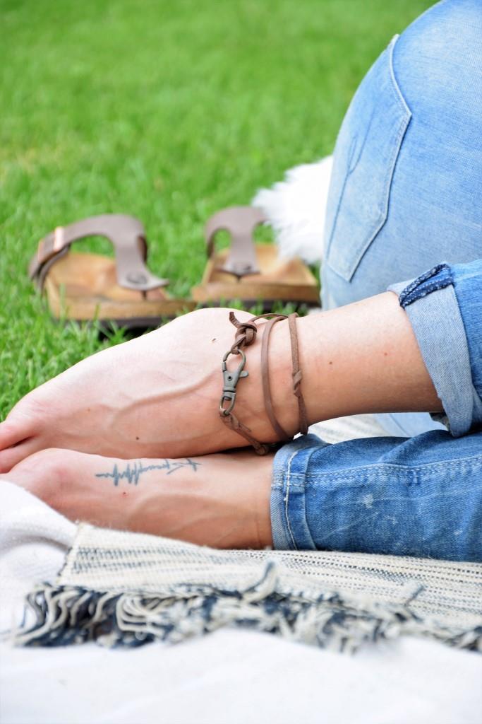 Picknick Füße Tattoo