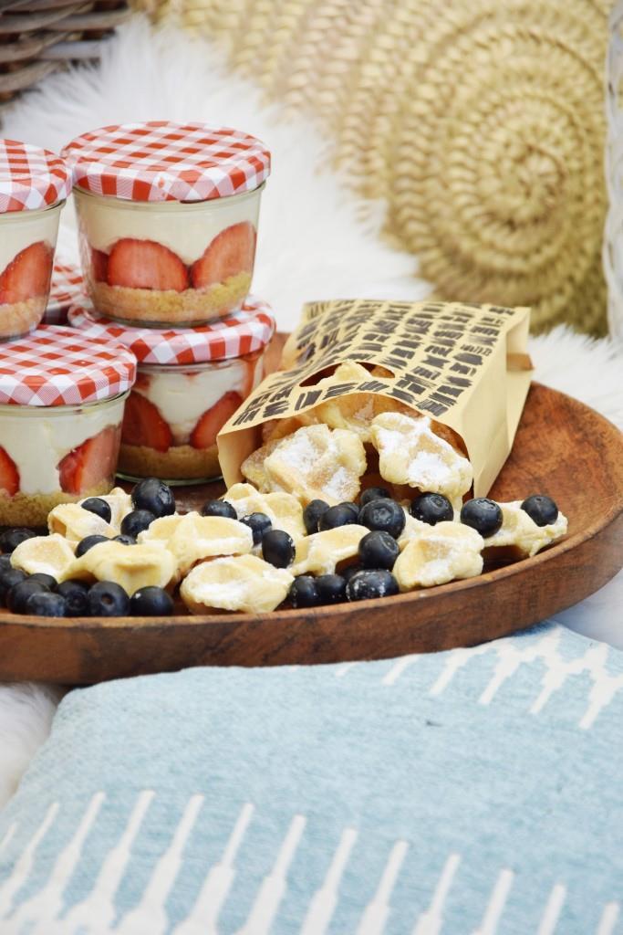 Waffelbites Cheesecake Picknick