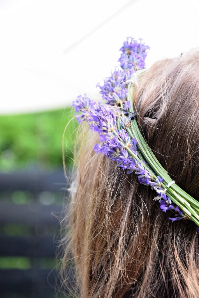 Blumenkranz Lavendel Sommer