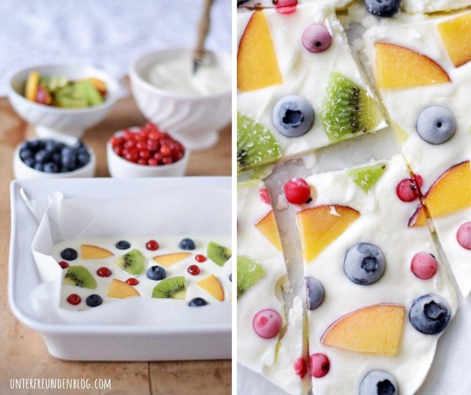 Frozen Yogurt Bark – selbstgemachtes 5-Minuten-Joghurt-Eis – die coolste Erfrischung für heißeTage