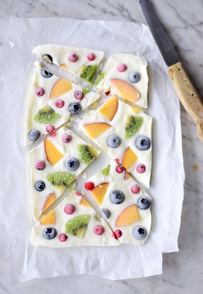 Frozen Yogurt Stücke