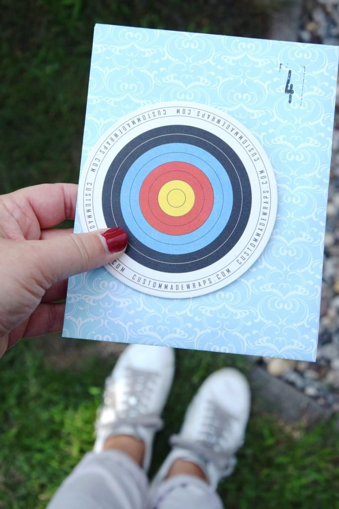 Hinweis Zielscheibe Bogenschießen