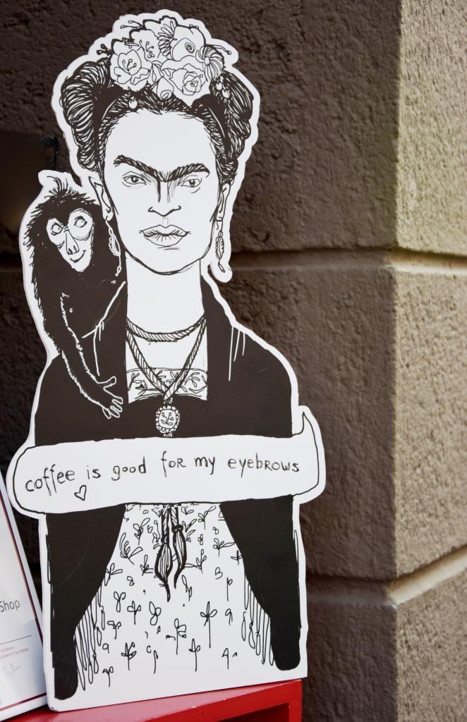 Schild Frida Kahlo