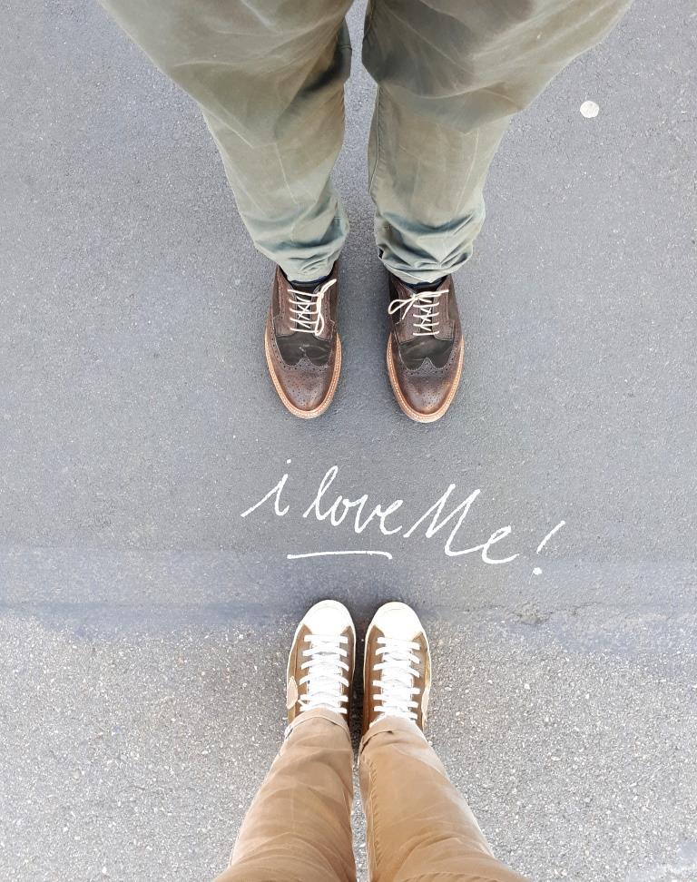 "Streetart ""I love me"""