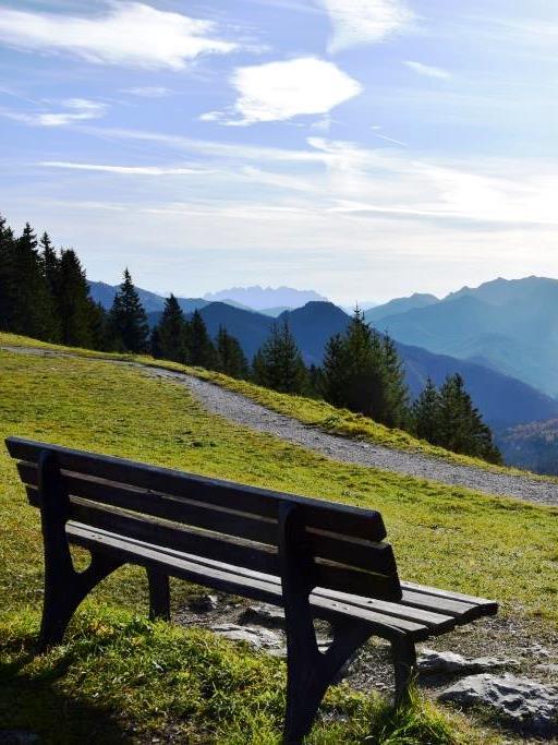 Berge Bank Aussicht