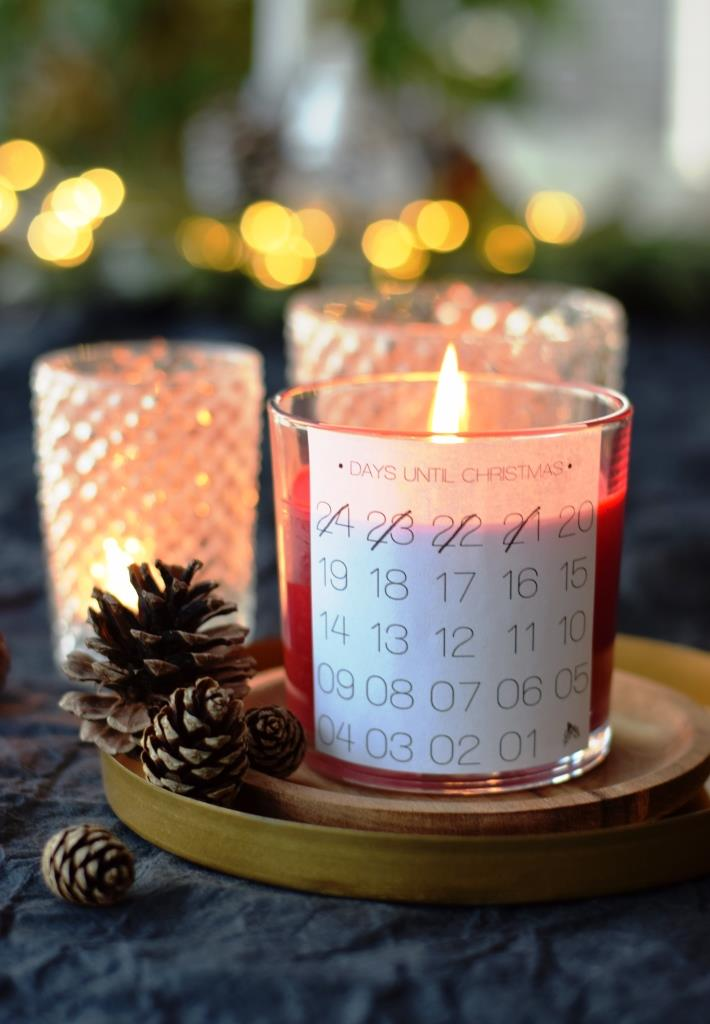 Christmas Countdown Candle