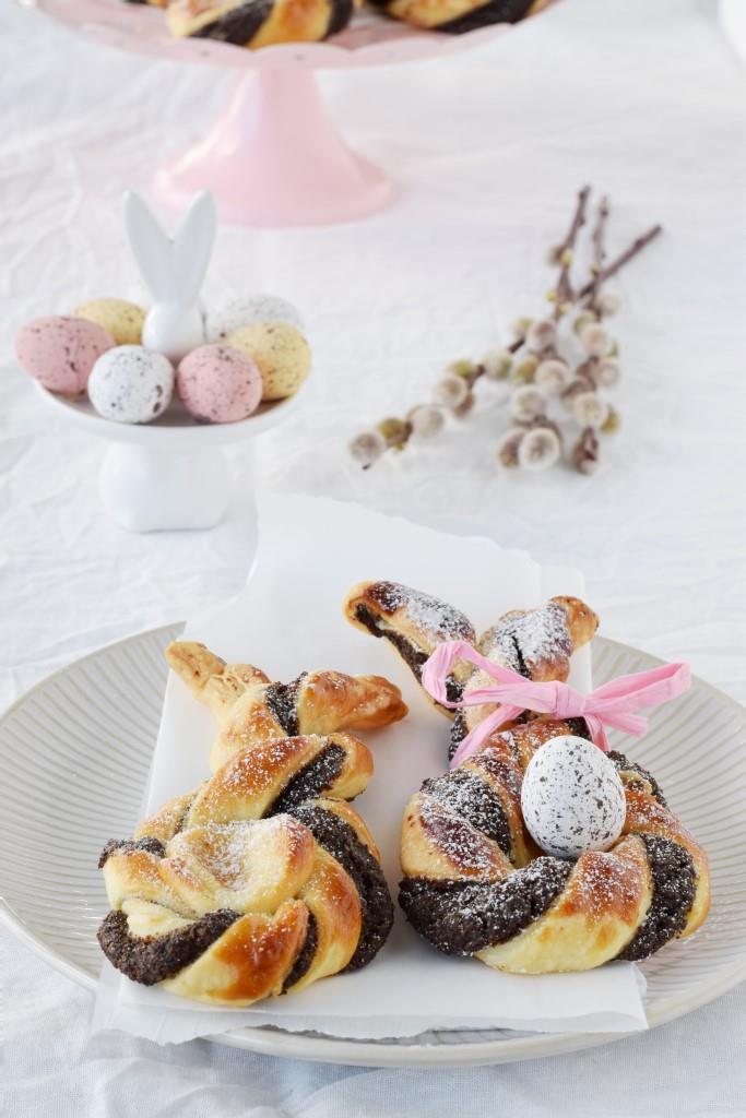 Ostern Rezept Blätterteig Hasen