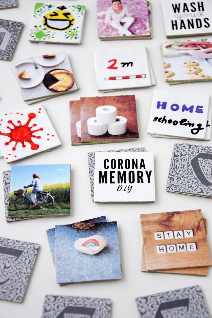 Corona Memory Spiel selbst machen