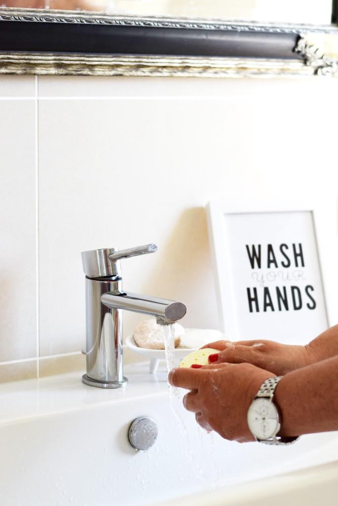 Wash your hands Poster Soap Bathroom