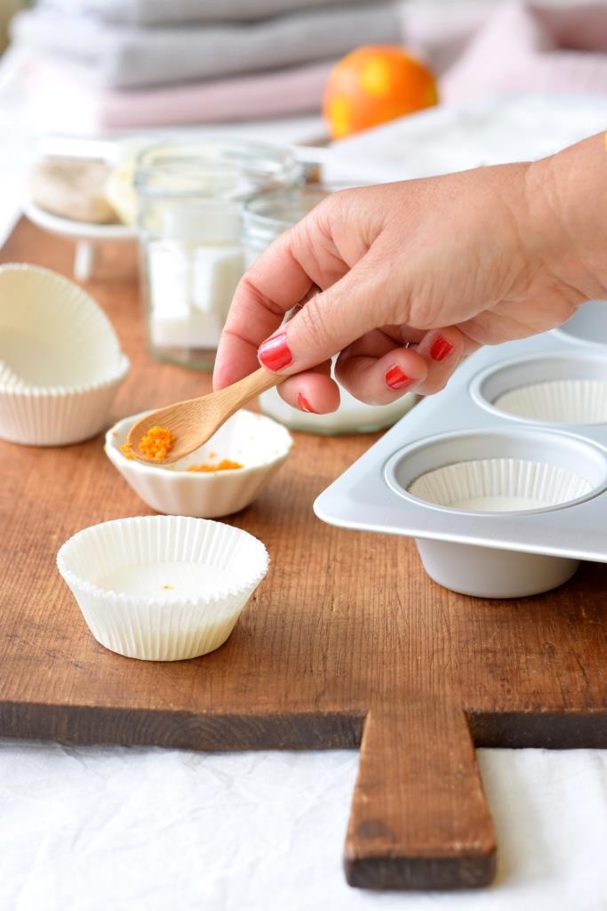 Orangenabrieb auf selbstgemachte Seife