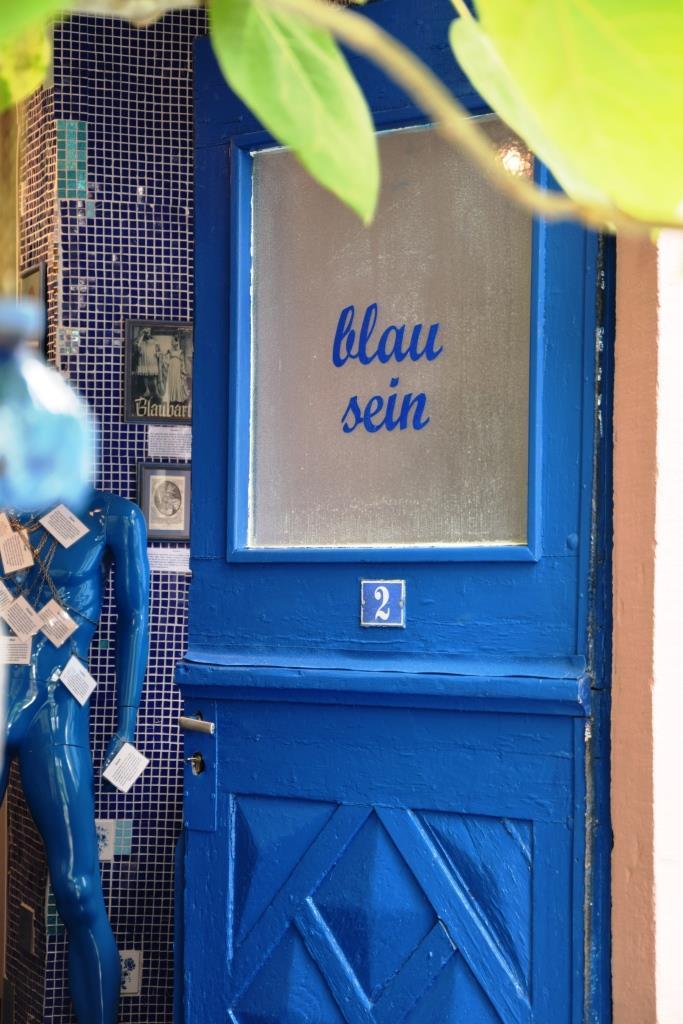 Tür blau sein Museum