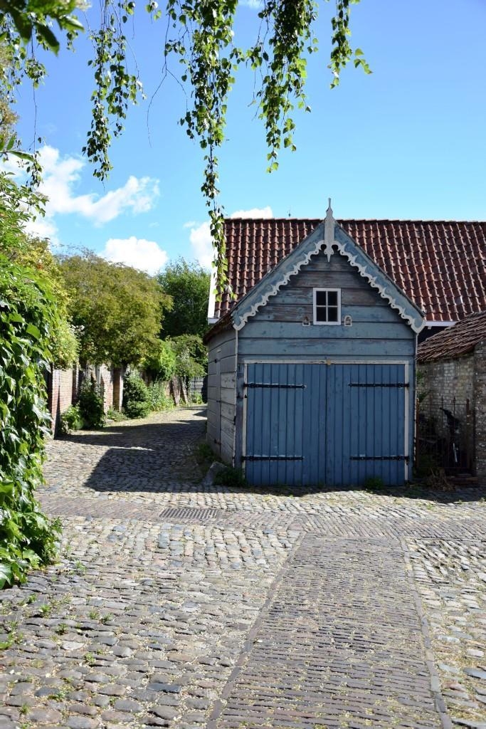 Zeeland Veere blaues Haus