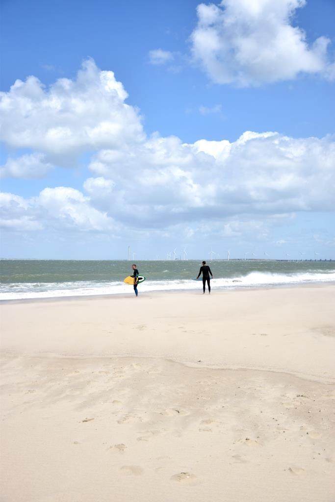 Surfer Strand Zeeland