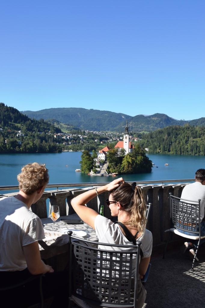 Kaffeepause Belvedere Bled
