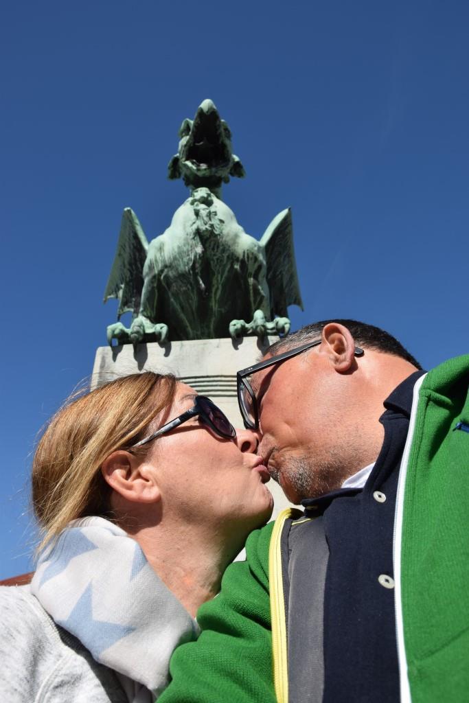 Selfie Drachenbrücke Ljubljana
