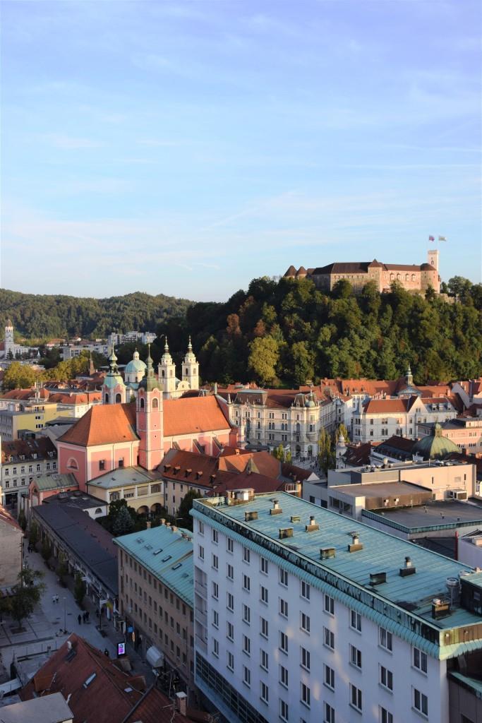 Aussicht Burg Ljublana