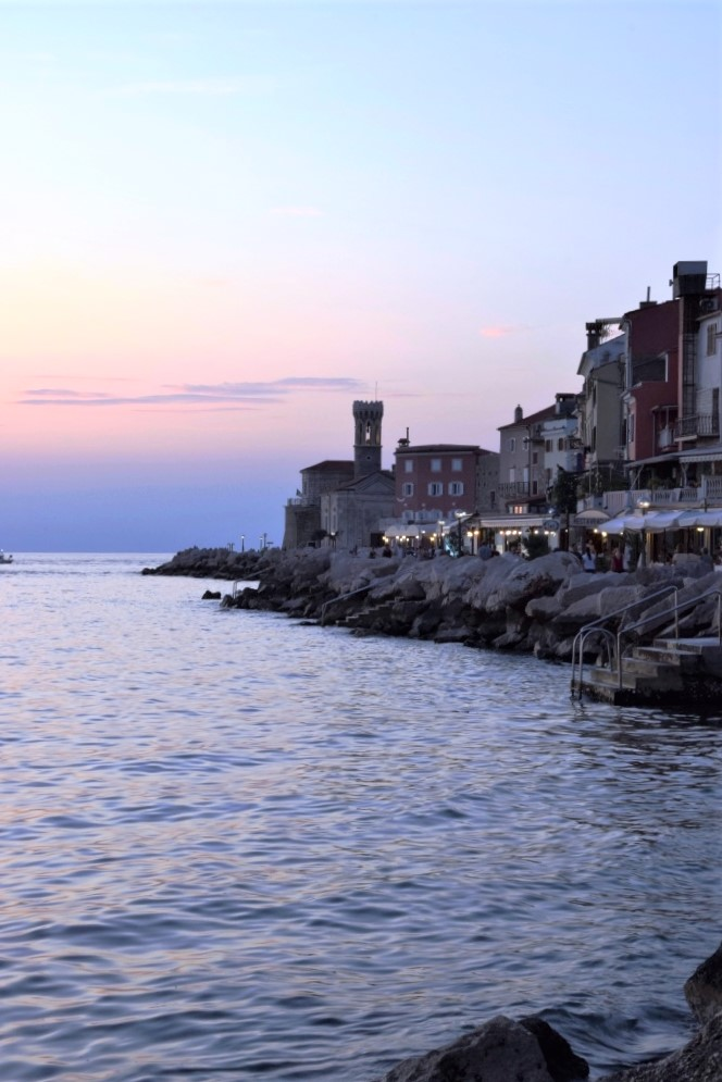 Piran Promenade Sunset