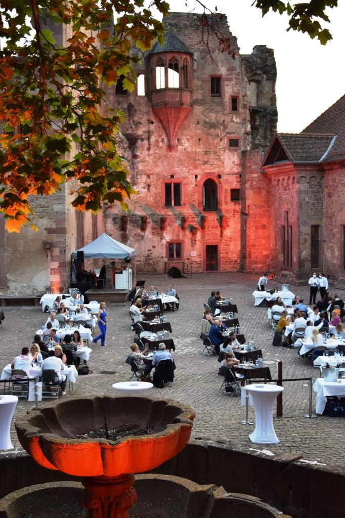 Abendstimmung Schlosshof Heidelberg