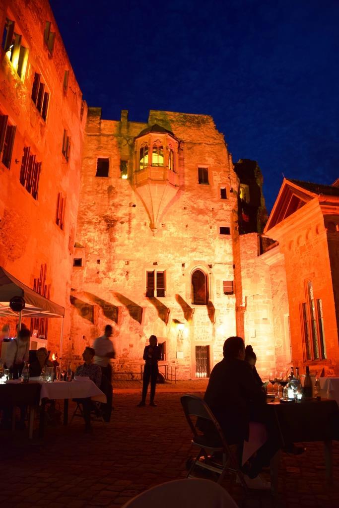Blaue Stunde Schloss Heidelberg