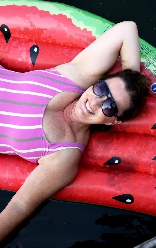 Sommer Luftmatratze Melone