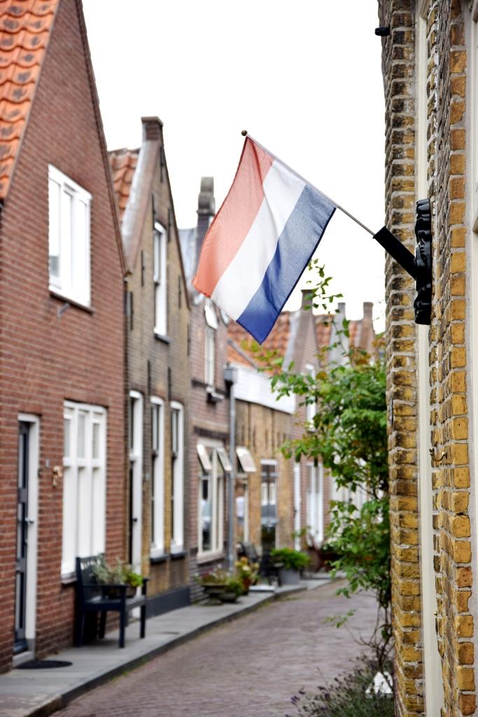 Straße Holland Flagge
