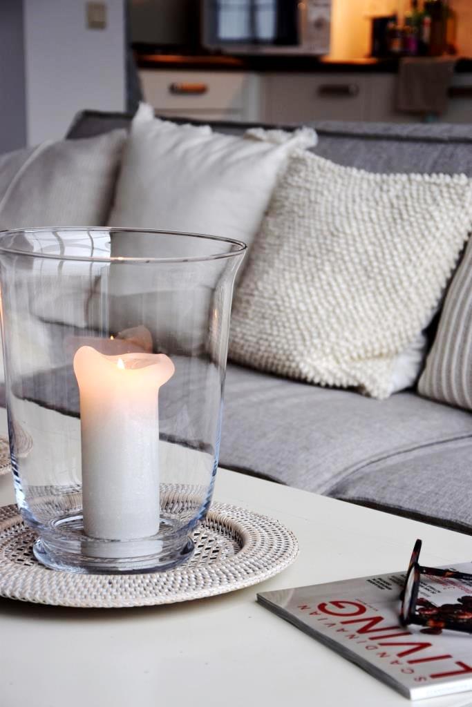 Sofa Kerzen Kissen