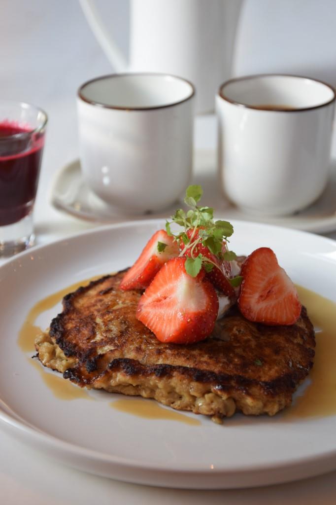 Pancakes Erdbeeren Frühstück