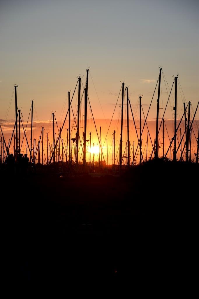 Sonnenuntergang Hafen Zeeland