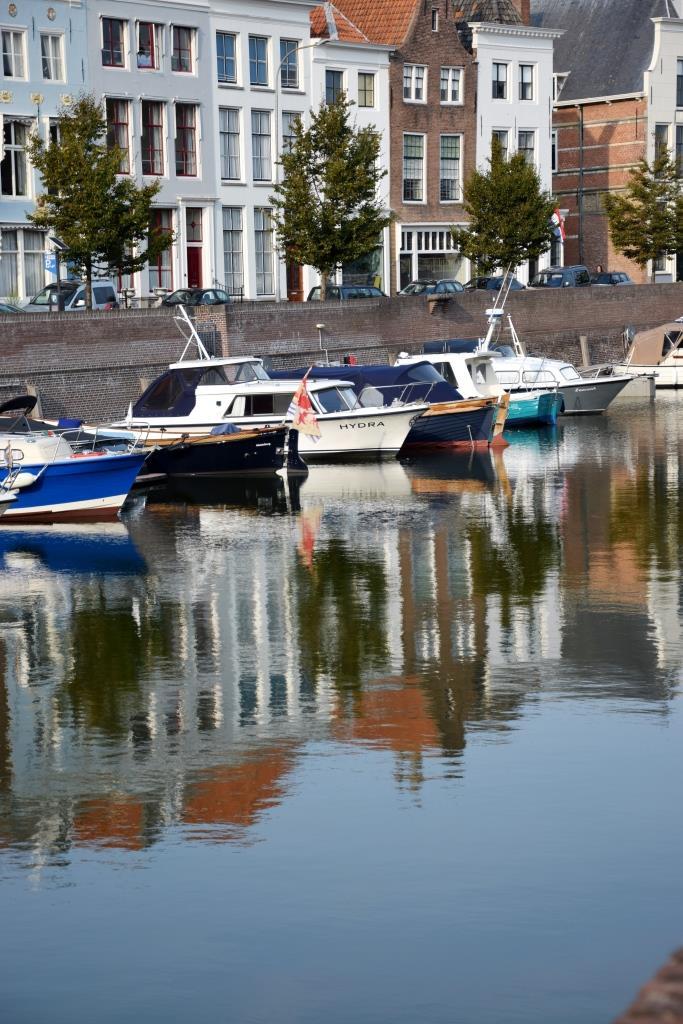 Gracht Boote Middelburg