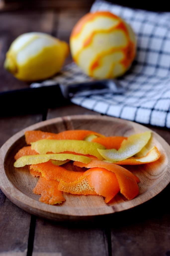 Orangenschale Zitronenschale
