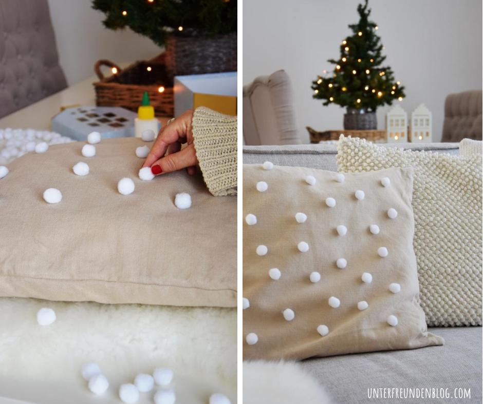 Let it snow – winterliches Kissen im Skandi Stil ganz einfachselbstgemacht