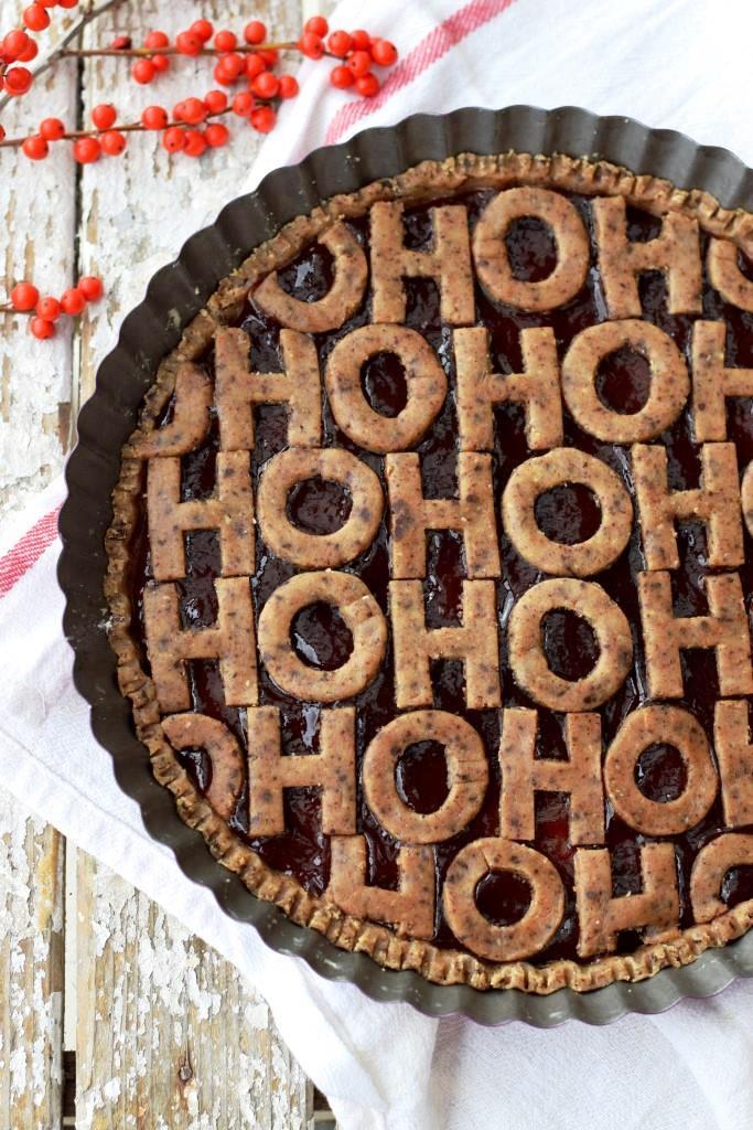 HO HO HO Linzer Torte Weihnachten