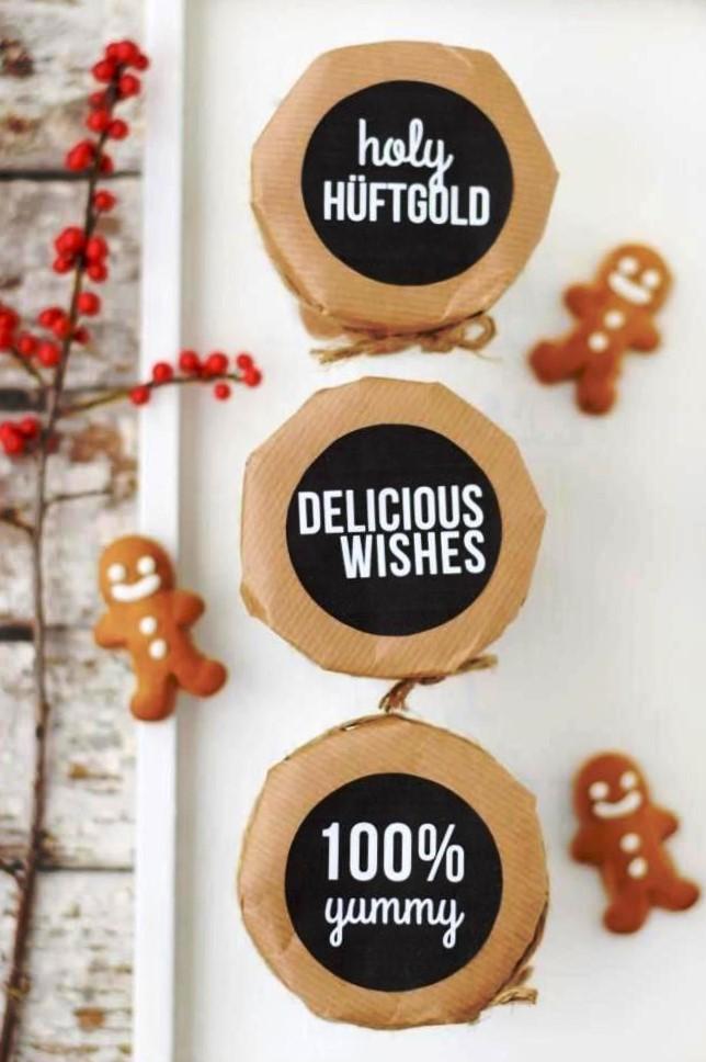 Weihnachten Etiketten Anhänger