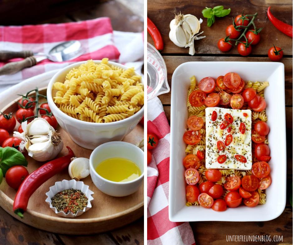 Einfacher geht's nicht – das Trendrezept Baked Feta Pasta aus dem Ofen. So gut und unglaublichsimpel!