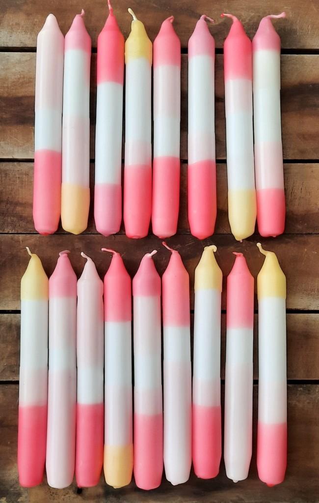 Dip Dye Candles Pastell
