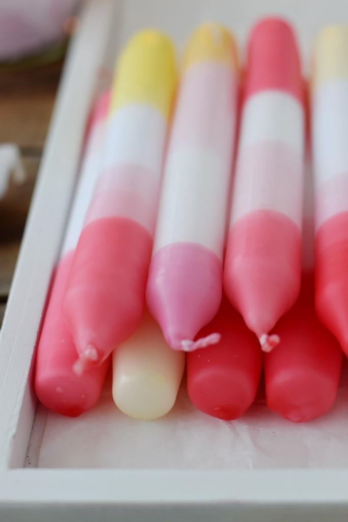 Dip Dye Candles