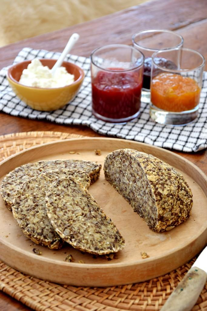 Brot Quark Marmelade