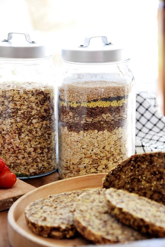 Geschenkidee Brotbackmischung Vorratsglas