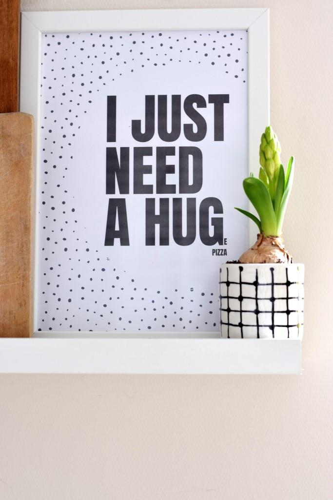 Pizza Hug Poster