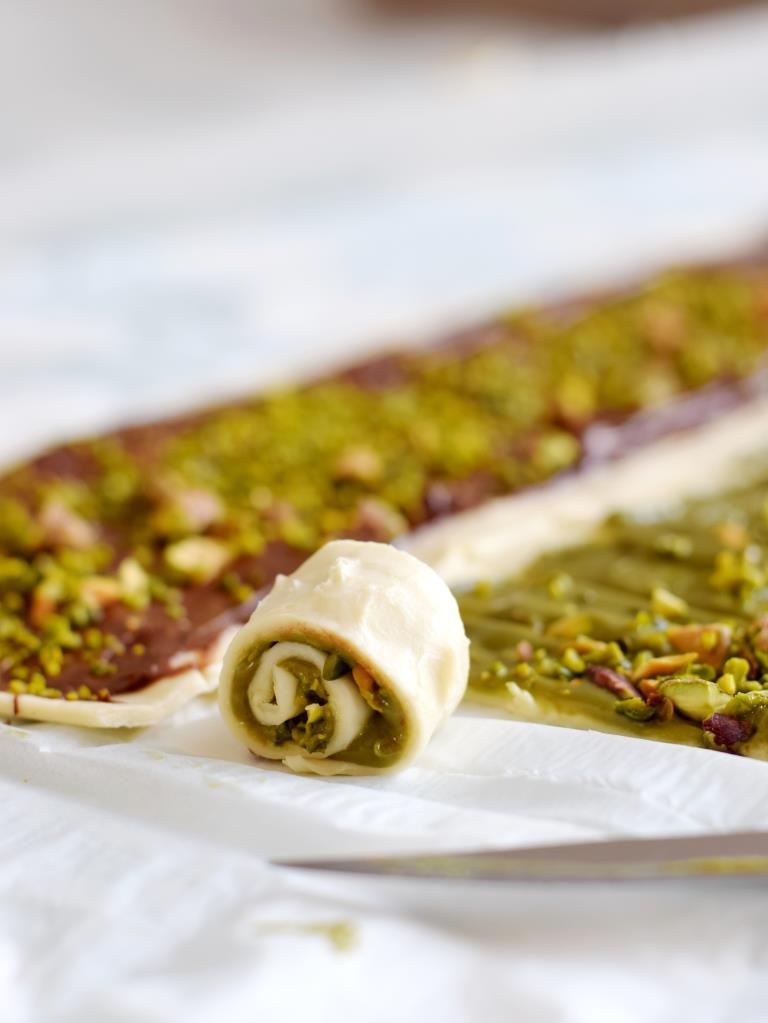 Blätterteig Nutella Pistazien