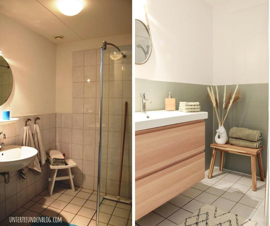 Fliesen streichen mit Kreidefarbe – schnell, günstig, einfach. So haben wir Bad und WC mit kleinem Budget selbstrenoviert