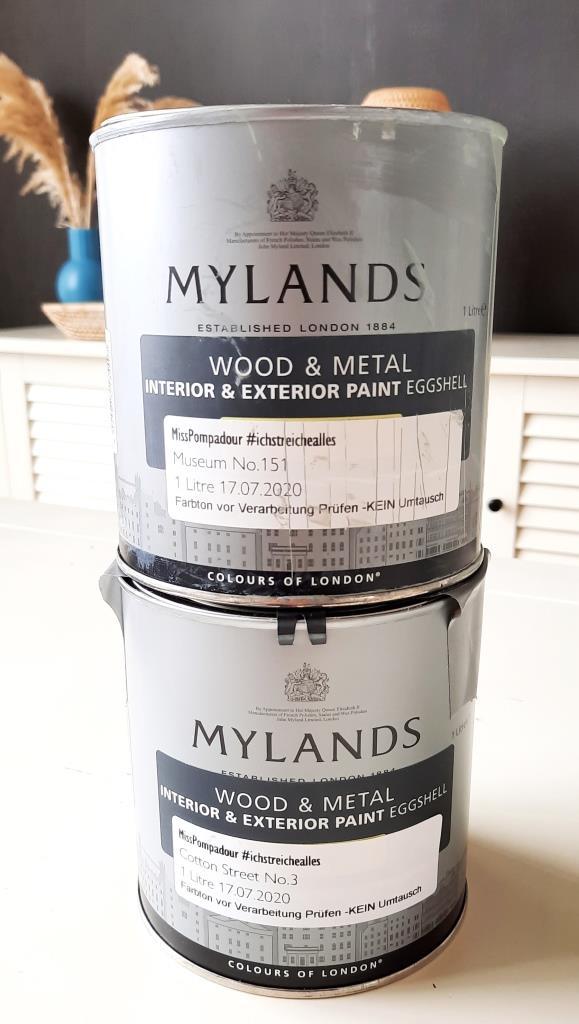 Mylands Kreidefarben Farblack zum Streichen alter Fliesen - meine Wahl