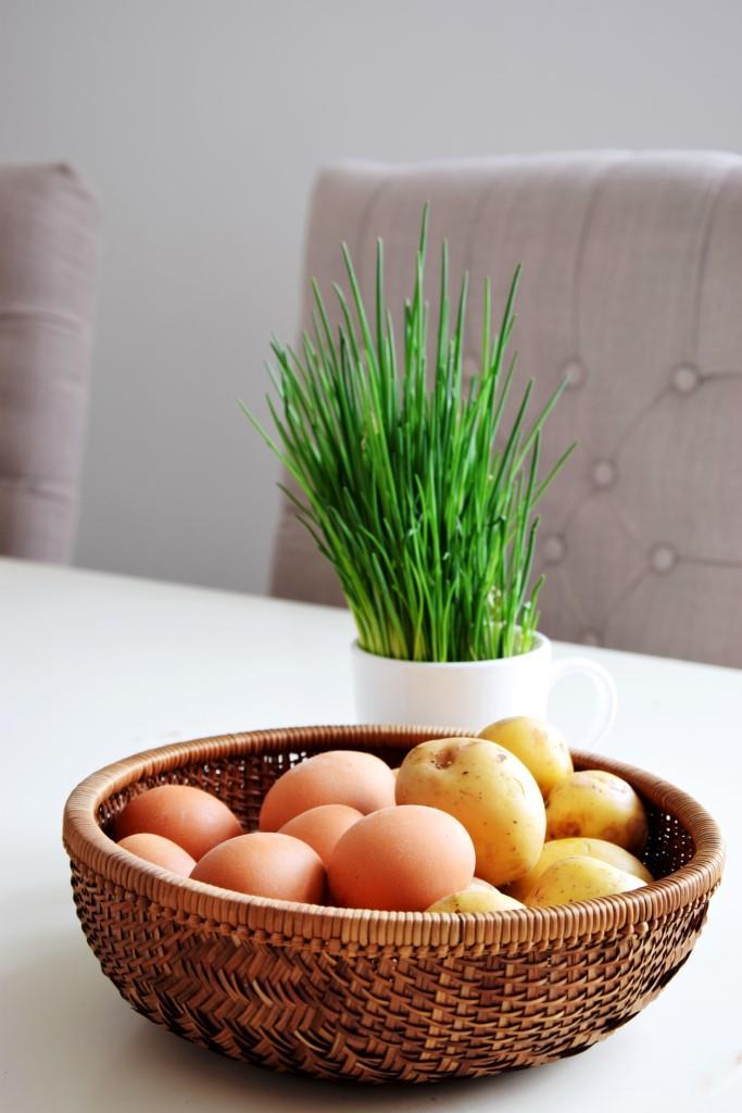 Kartoffeln Eier Schnittlauch