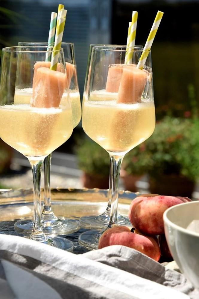Wassereis am Stil in Prosecco - hübsch, erfrischend und so lecker!
